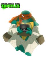 Michaelangelo is a party dude by Chrisgemini