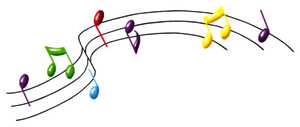 Music notes png by DoloresMinette
