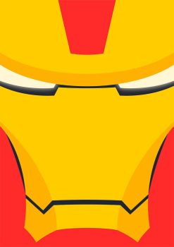 Iron Man (mark 7) - Flat Poster by kartine29