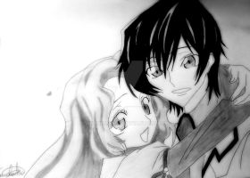 Nunnally and Lelouch by akanemanga