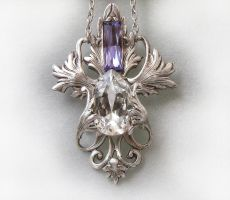 Provence Lavender Necklace by Aranwen