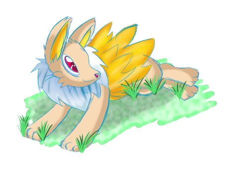 Momma's Baby: Jety the Jolteon by DizMahJam