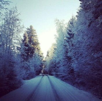 Winter road by FinlandNature
