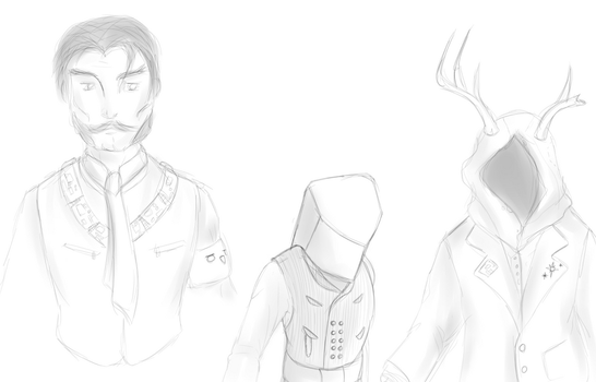 Tech occultist sketches by BROFISTICUSMAXIMUS