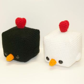 Cubed Chickens by Heartstringcrochet