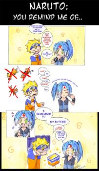 Naruto - You remind me of.. by Uberzers