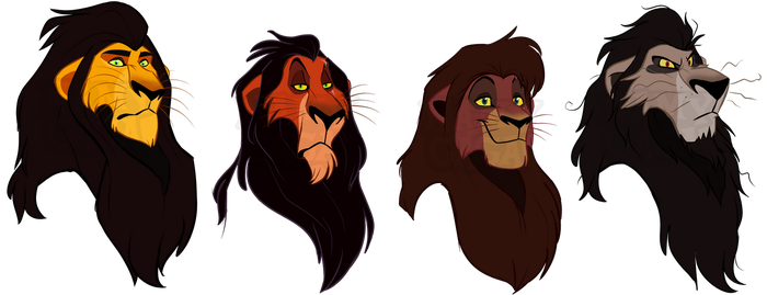 TLK Royal black mane lions by NamyGaga