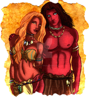 Disney Kiara and Kovu Humaniced by forgotten-ladies