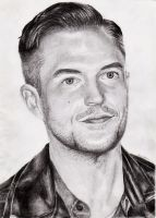 Brandon Flowers Pencil by feliciabe