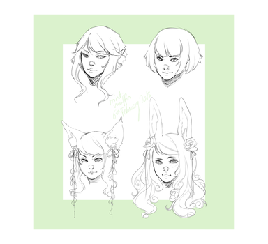 Practice {Heads} by mint-muffin