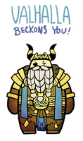 Smite - Valhalla beckons you (Chibi) by Zennore
