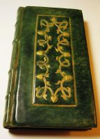 Large Green Leather Guestbook by gildbookbinders