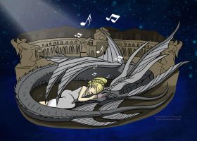 Luna Soothes Leviathan by Lindsay-N-Poulos