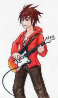 Flaming Guitar by uni416