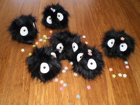 Studio Ghibli Soot Sprites by sugarstitch