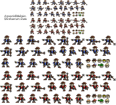 Sniper Man Sprites and Hats by AgentMidnight