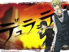 DuRaRaRa: Izaya and Shizuo by Angels-Leaf