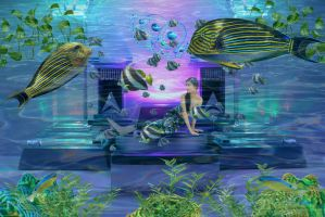 Throne Room Under the Sea  by loloalien