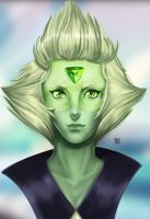 attempt a portrait of peridot with glasses by MasterAlex117