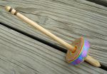 Recycled Paper Whorl Drop Spindle by flufdrax
