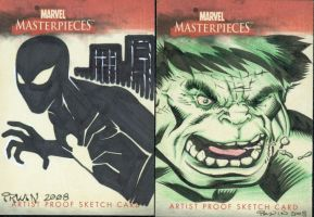 Marvel Masterpieces AP cards by MarkIrwin