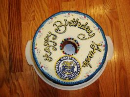 Coast Guard Seal Cake by CakeandCaboodle