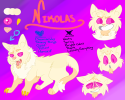 Fursona | Nikolas Reference by FiddleStixxx