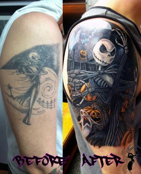 Nightmarer Before Christmas Cover-up Complete by greyfoxdie85