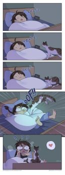 Cat Attack by Zombiesmile