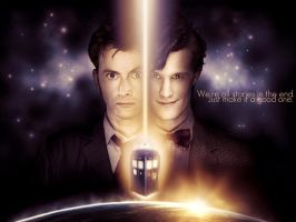 Doctor 10 and 11 Wallpaper by formidable-bee