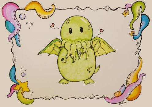 Chibi Cthulhu by SpinaOscura