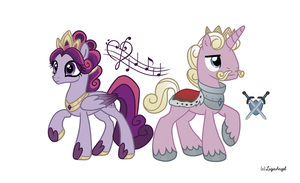 Cadence's Parents: King Eros and Queen Allegra by LugiaAngel