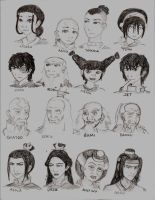 Avatar Character Drawing 1 by Golden-Flute