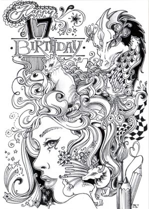 The 17th Birthday Scribble Challenge by Ejderha-Arts