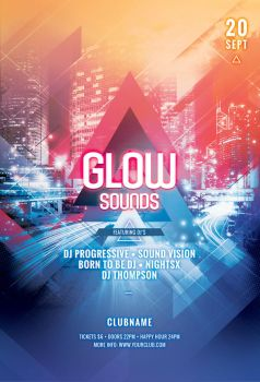Glow Sounds Flyer by styleWish