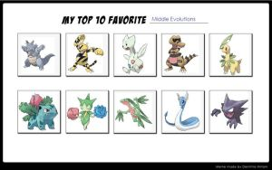 My Top 10 Favorite Middle Evolutions by TheLunaDiviner-Saix
