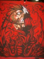 Carnage on a Red Hoodie by Almigh-T
