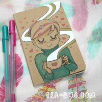 Lovely Tea - hand drawn notebook cover by tea-bug