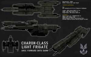 Charon class light frigate ortho by unusualsuspex