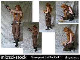 Steampunk Soldier Pack 1 by mizzd-stock