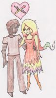 Stick Boy and Match Girl by Art--Pixie