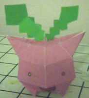 hoppip papercraft by ganon-destroyer