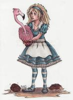 Alice and the Flamingo by TinyQ