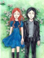 Lily Evans and Severus Snape by Mitzka