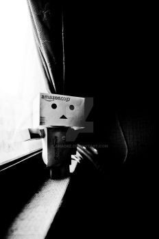 Danbo at my window by Anagke