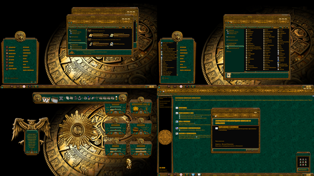AZTEC theme for windows 7 by ORTHODOXX67