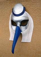 Silver Thoth Ibis Mask by merimask