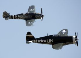 P-47G Fw-190 Formation by shelbs2