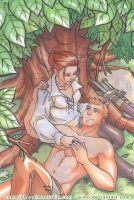 DA - Alistair and Cousland by aimo