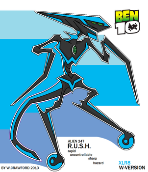 Ben10 Alien R.u.s.h. Xlr8 Version by frgrgrsfgsgsfgggsfsf